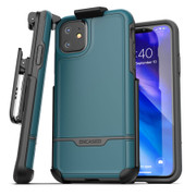 Encased Rebel Case iPhone 11 with Belt Clip Holster - Blue