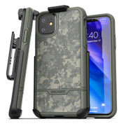 Encased Rebel Case iPhone 11 with Belt Clip Holster - Camo