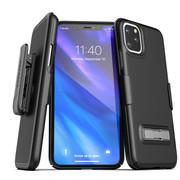 Encased Slimline Case iPhone 11 Pro Max with Belt Clip Holster - Black