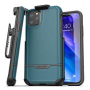 Encased Rebel Case iPhone 11 Pro Max with Belt Clip Holster - Blue