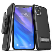 Encased Slimline Case iPhone 11 with Belt Clip Holster - Black