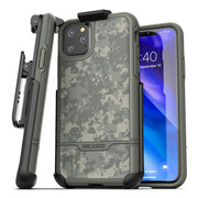 Encased Rebel Case iPhone 11 Pro Max with Belt Clip Holster - Camo