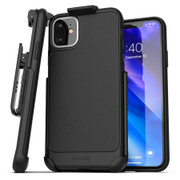Encased Thin Armor Case iPhone 11 with Belt Clip Holster - Black