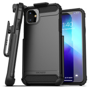 Encased Scorpio Case iPhone 11 with Belt Clip Holster - Black