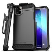 Encased Scorpio Case iPhone 11 Pro Max with Belt Clip Holster - Black