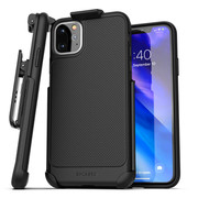 Encased Thin Armor Case iPhone 11 Pro Max with Belt Clip Holster - Black