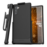 Encased Thin Armor Case Samsung Galaxy Note 10 with Belt Clip Holster - Black