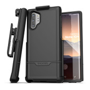 Encased Rebel Case Samsung Galaxy Note 10+ Plus with Belt Clip Holster - Black
