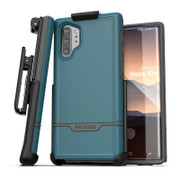 Encased Rebel Case Samsung Galaxy Note 10+ Plus with Belt Clip Holster - Blue