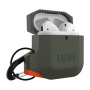 UAG Silicone Case Apple Airpods - Olive Drab/Orange