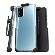 Encased Clear Back Case Samsung Galaxy S20 with Belt Clip Holster - Clear