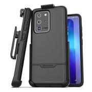Encased Rebel Case Samsung Galaxy S20 Ultra with Belt Clip Holster - Black