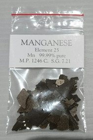 Manganese, elemental 99.9% pure 10g sample. Element 25.  FREE POSTAGE!