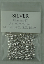 Silver granules, .9999 pure 10g sample bag  FREE POSTAGE!