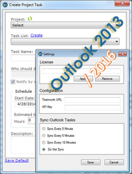 Outlook 2013/2016 Add-In Task Manager for Teamwork