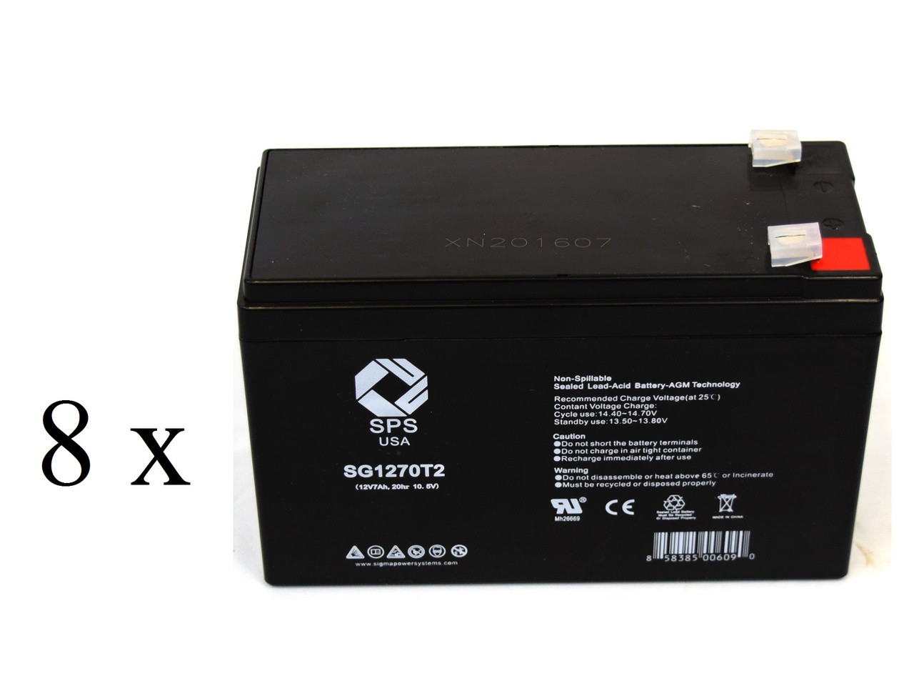 12V 7Ah SLA Replacement Battery Set for Tripp Lite SMART1400