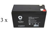 High capacity battery set for ATT 500VA