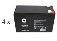 High capacity battery set for UPSonic LAN 100 UPS