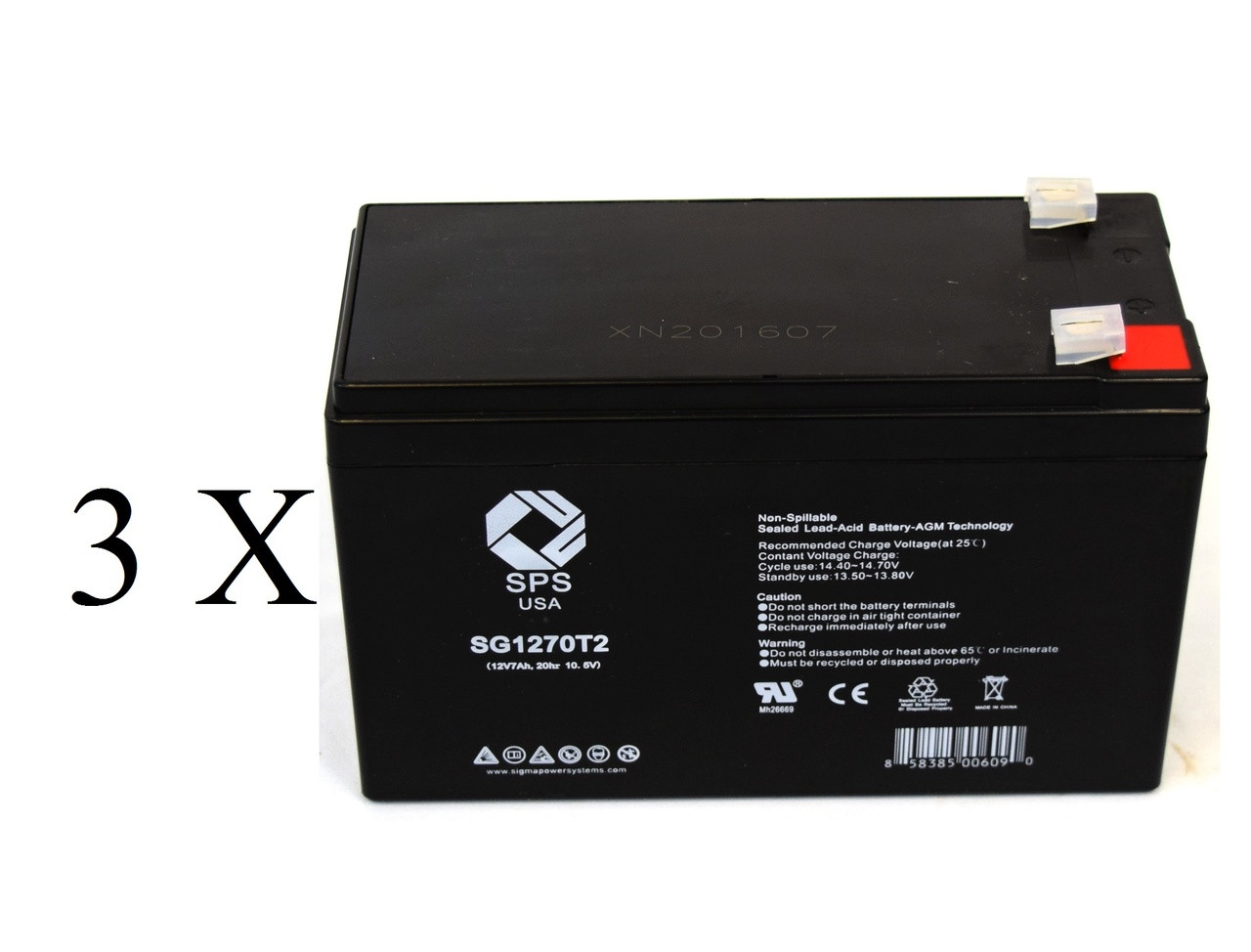 12V 7Ah UPS SLA Replacement Battery for Emerson AU750