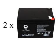 Shoprider 109101-66701-12L 12V 12Ah scooter battery set