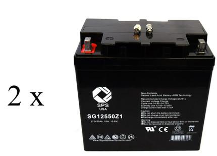 Optiway Technology Crusader wheelchair  battery set