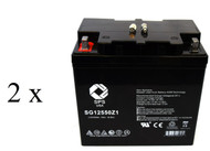 Quickie G424 22NF AGM wheelchair  battery set