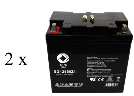 Yuasa Enersys Genesis DN55-12 Group 22NF  battery set