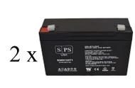 light alarms 2DSGC3V CHK DIM 6V 12Ah - 2 pack