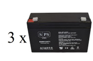 Emergi-Lite 12-DSM-36 6V 12Ah - 3 pack