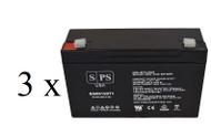 Power-Sonic PS-6100 6V 12Ah - 3 pack