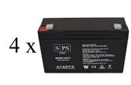 light alarms 2DSGC3V - - CHK DIM 6V 12Ah - 4 pack