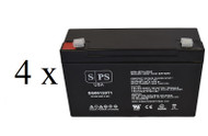 Power-Sonic PS-6120F2 6V 12Ah - 4 pack