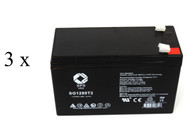 Emerson AU 750 60 UPS battery set 14% more capacity