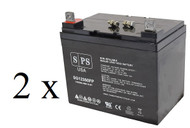 Panasonic LC-R1233P 12V 35Ah scooter battery set