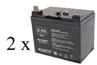 Pride Mobility BATLIQ1017 AGM 12 Volt 35 Ah U1 U1 battery set