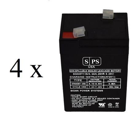 Chloride 100-001-0162 6V 4.5Ah Battery -4 pack