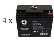 High Capacity Battery set for Alpha Technologies AS 2000
