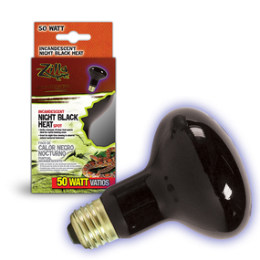 Zilla night black reptile heat bulb.