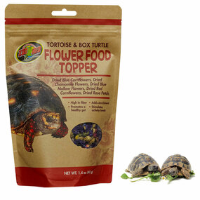 Zoo Med Tortoise & Box Turtle Flower Food Topper