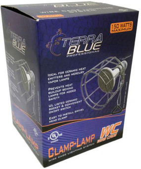 Terra Blue Wire Cage Clamp Lamp
