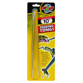 Zoo Med Stainless Steal 10 Inch Feeding Tongs