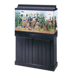 Pine 20 Gallon Long Turtle Tank Stand Black