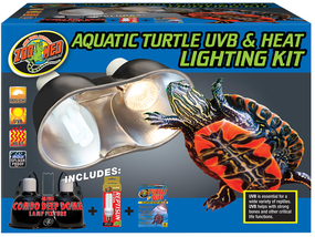 Zoo Med Aquatic Turtle UVB & Heat Lighting Kit With Bulbs Included