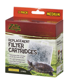 Zilla turtle tank filter replacement filter cartridges. 3 pack