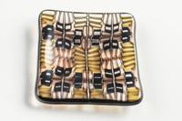 Xander D'Ambrosio - Brown & Onyx (16x)  Murrine Plate