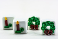 Dinah Hulet - Holiday Cube Paperweights