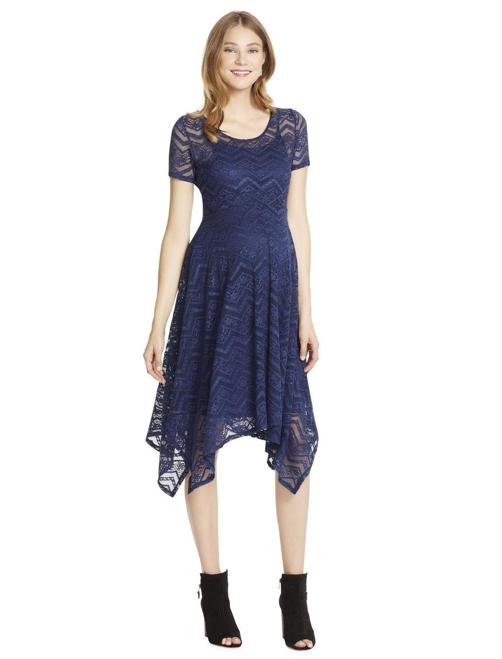 9090c98672cf Jessica Simpson Lace Hanky Hem Maternity Dress. Price: ₱2,000. Image 1
