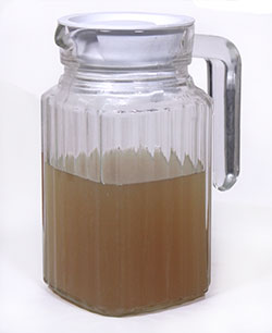 Fresh homemade green coffee extract