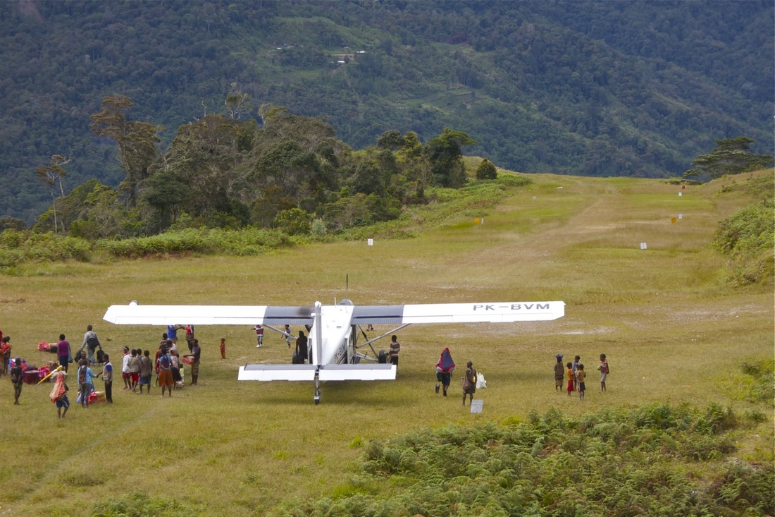 Actual airstrip used by Highlands Summit Coffee bush pilots