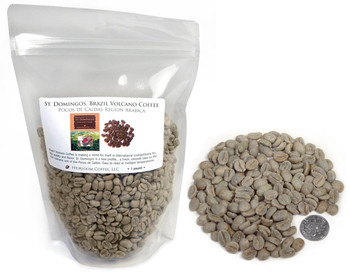 Brazil St. Domingos™ Volcano Coffee from Poços de Caldas, green unroasted ##for 1lb (larger sizes available)##